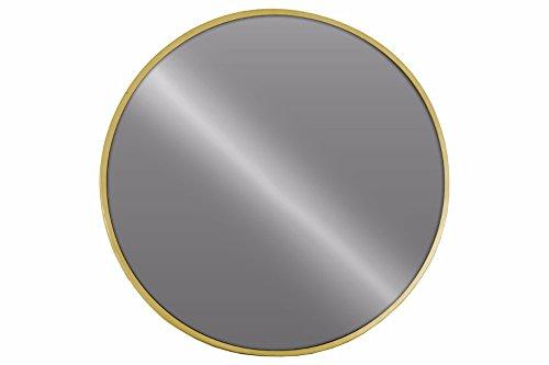 Benzara Round Wall Mirror Metallic Finish-Gold - Round Mirror Gold