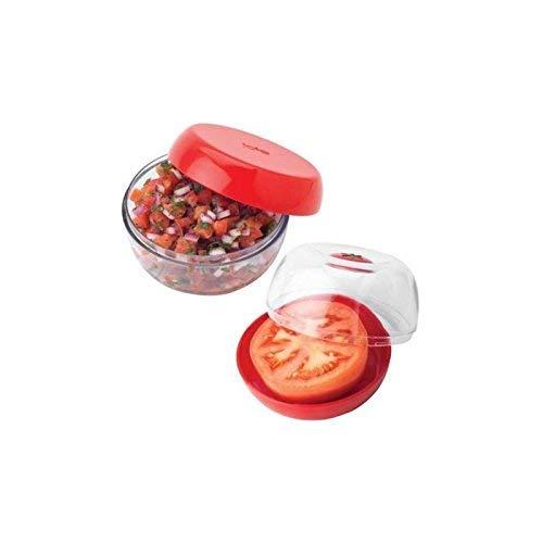 Joie Bote Guarda Tomates Reversible, Rojo y Transparente, 10.8x10 ...