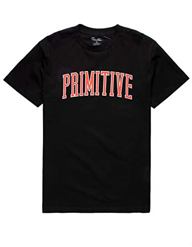 - Primitive Collegiate Arch Outline T-Shirt - Black - XL