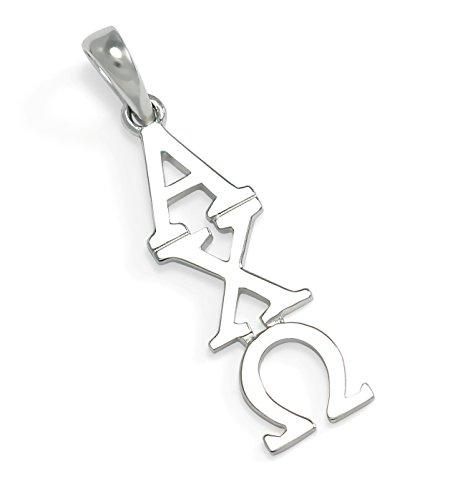 The Collegiate Standard Alpha Chi Omega Sterling Silver Lavaliere Pendant