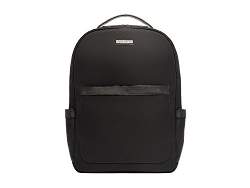 "Archer Brighton Jake Laptop Backpack, Men's 15"" Business TSA Travel Leather Canvas Multipurpose Backpack (Black) by Archer Brighton"