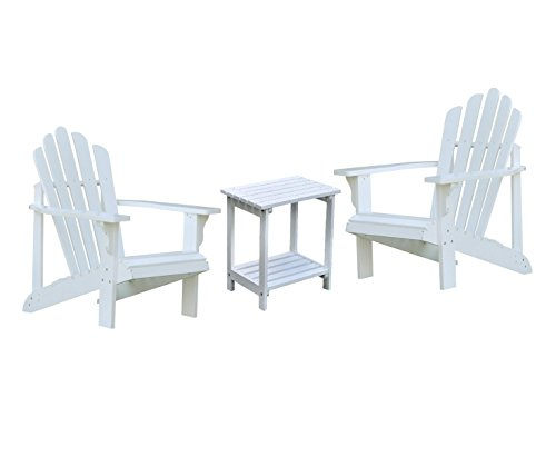 Shine Westport Adirondack Chairs With Rectangular Side Table Bundle in ()