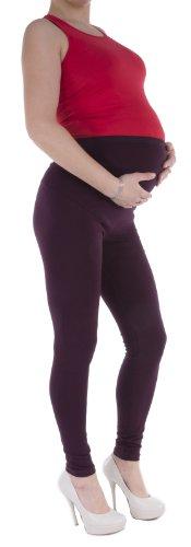 Jandaz® - Leggings de invierno para premamá, algodón, varios colores marrón