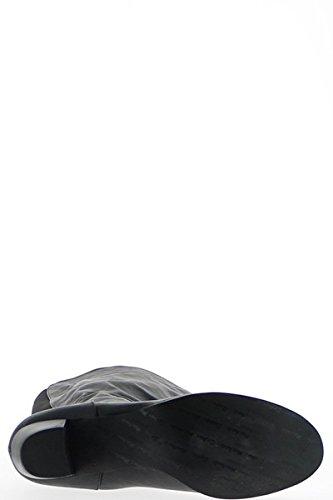 Botas grande cintura hembra negra con tacón 6,5 cm