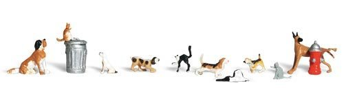WOODLAND SCENICS A1841 Dogs & Cats HO WOOU9141 ()