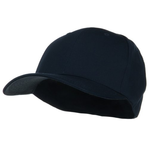 473d5daa6f3 Extra Size Fitted Cotton Blend Cap - Navy (For Big Head)