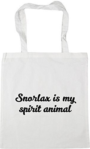 my HippoWarehouse x38cm 42cm litres spirit Beach is Bag Snorlax animal Gym White Shopping Tote 10 ZEE1Hq