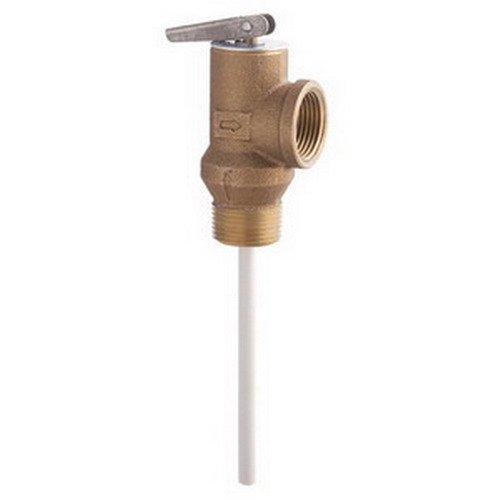 Watts Regulator LFSL100XL Lead Free Copper Alloy Temperature And Pressure Relief Valve, 150/210 psi