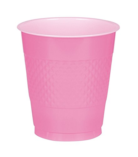 Bright Pink Plastic Cups Big Party Pack, 16 Oz., 50 Ct. ()