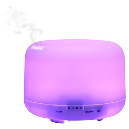 Onugi-500ml-Cool-Mist-Ultrasonic-Humidifier-Air-Purifiers-Essential-Oil-Diffuser-Aroma-Diffuser-for-Office-BedroomYoga-Baby-Room-with-Optional-7-Color-Changing-LED-Lights-AUTO-Shut-off-Function