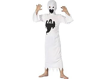 DISONIL Disfraz Fantasma Blanco Niño Talla M: Amazon.es: Juguetes ...