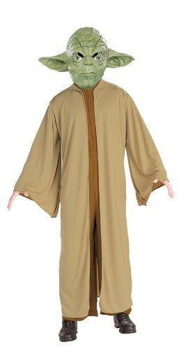 UHC Men's Yoda Robe Jumpsuit Comical Theme Party Adult Halloween Costume