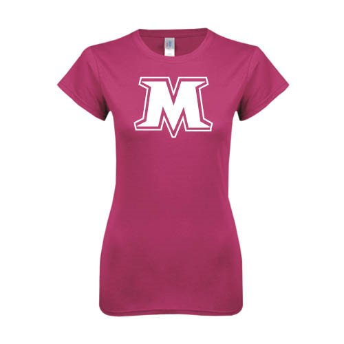 Molloy Ladies SoftStyle Junior Fitted Fuchsia Tee 'M'