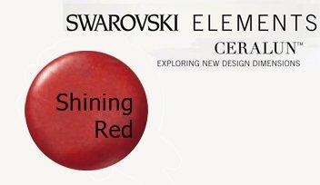 Swarovski Crystal Shining Beads (Swarovski Ceralun Ceramic Composite, Shining Red 2 X 50gram)