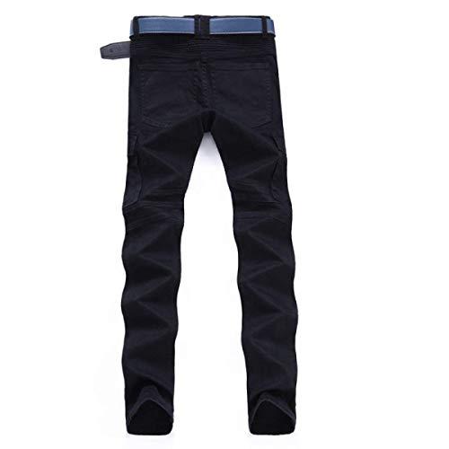 Slim Nero Senza Estilo Fit Dritti Pantaloni Jeggings Bassa Elasticizzati Da Vintage Especial Jeans Uomo Casual Vita Cinturino A U0nxan4