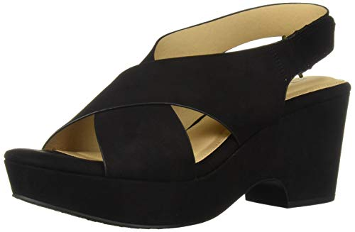 CL by Chinese Laundry Women's Capital Heeled Sandal Black Suede 9 M US