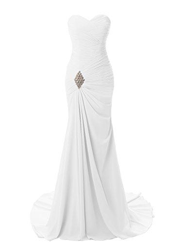 2001 Wedding Gown - JYDress Women's Sweetheart Mermaid Long Evening Dress Formal Prom Gowns White
