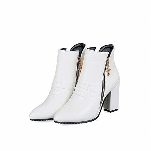 Boots Donna Bianco MissSaSa Elegante Stivaletti aYxqnHv
