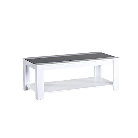 Générique Style L Et Basse Contemporain Blanc 110 55 Mat Damia Table Cm Xl Noir zqSMGLUjVp