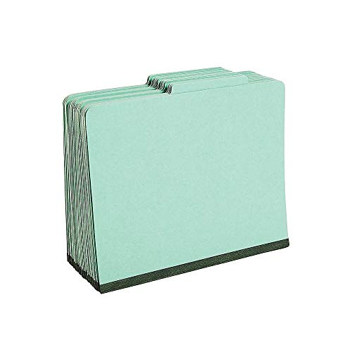 (Staples Colored Pressboard Classification Folders, Letter, 1 Partition, Green, 20/Pack)