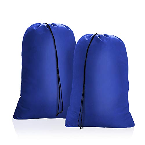OTraki Heavy Duty Large Laundry Bag 28 x 45inch [2 Pack] XL Drawstring Travel Organizer Bags Camp Home College Dorm Tear Resistant Dirty Clothes Big Storage Bag, Three Loads of - Bag Laundry Drawstring