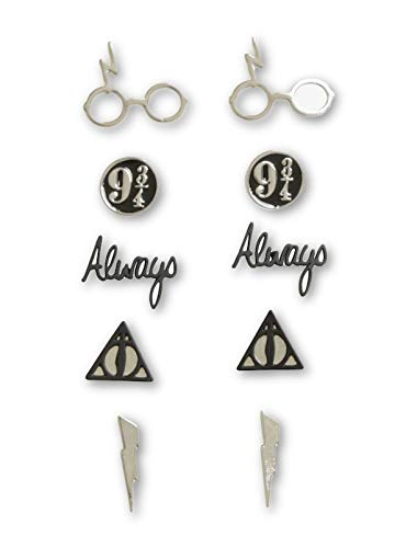 Harry Potter Symbols Earrings 5 Pair Set