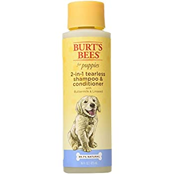 Burt's Bees for Dogs All-Natural Tearless 2 in 1 Shampoo and Conditioner   Best Shampoo & Conditioner for All Dogs and Puppies, Pack of 2