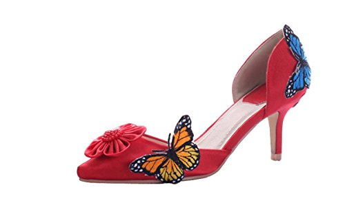 Heel Miyoopark Sandalias Cuña Con 7cm Mujer Red rxS0SHYwqO