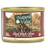 Natural Value Sliced Black Olives 48x 2.25Oz