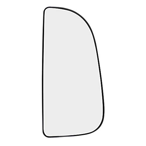 Passenger Side Tow Mirror Glass with Base Outer Replacement for 09-18 Ram Pickup