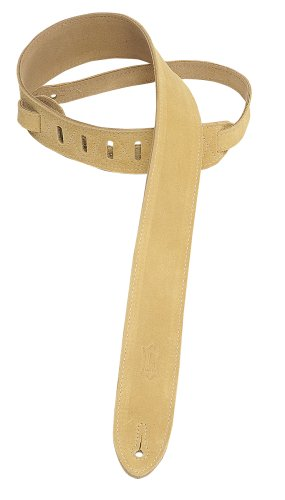 """Levy's Leathers 2"""" Suede Guitar Strap with Suede Backing - Adjustable from 36"""" to 52""""; Tan (MS12-TAN)"""