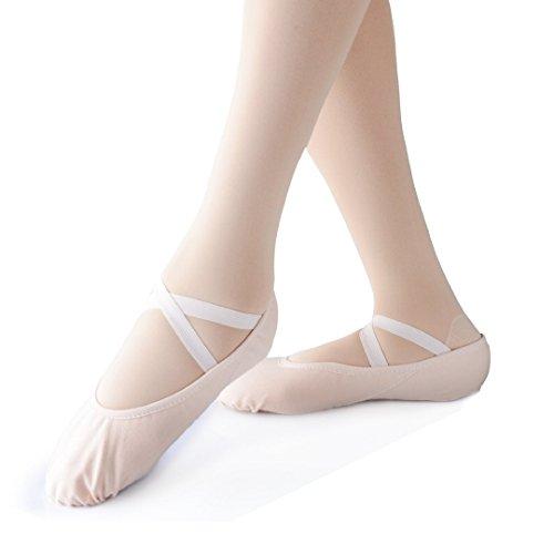Smartodoors Girls Kids Ballet Dance Slipper Shoes Soft Sole Ballet Shoes Ballet Flats Yoge Shoes (Black,Kids:US11.48)