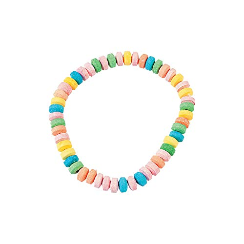 Fun Express - Candy Necklaces (24pc) - Edibles - Hard Candy - Dextrose - 24 - Candy Stretchable Necklaces