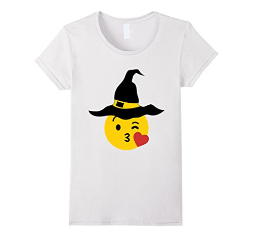 The White Witch Costume Ideas (Womens Emoji Halloween Group Costume Heart Kiss Smile Witch Small White)