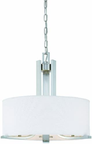 Thomas Lighting SL806678 Pendenza Collection 3 Light Pendant, Brushed Nickel
