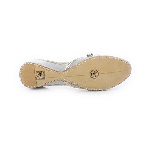 UK Mujer Plata Shoes GS Ballet Shalimar fEqRzTw