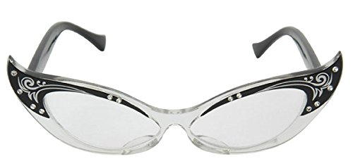 Sexy R2d2 Costumes (Elope Vintage Cat Eye Glasses (Black))