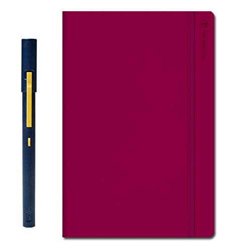 Neo Smartpen M1 with Pink N Hardcover Notebook (176 Ruled & Blank Pages) Bundle for iOS, Android, Smartphones, Tablets, and Windows - Navy