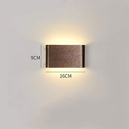 D 16cm ATR E27 Aluminum Wall Lamp, Metal Bedside Lamp, for Living Room Bedroom Decoration, Multicolor and MultiSize Optional (color  E, Size  16cm)