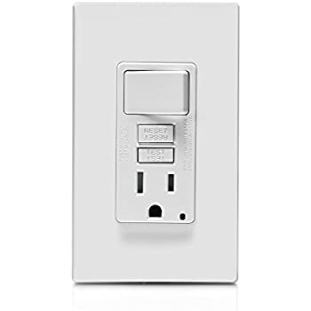 Leviton Gfsw1 W Self Test Smartlockpro Slim Gfci Bination Switch Ter Resistant Receptacle