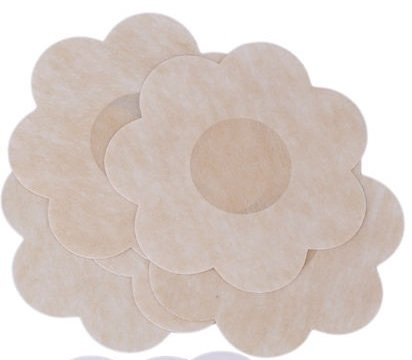 Breast Petals - Nipple Patches - No Show Nipple Covers - Adhesive Nipple Covers - Flower, Circle, Heart Shape (Flower) (Shape Decal Polyester)