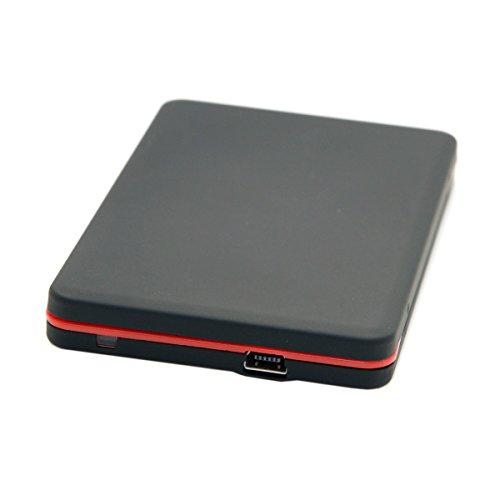 CY 1.8 inch Micro sata 16pin 7+9 SSD to USB 3.0 External Hard Disk Enclosure Black by CHENYANG