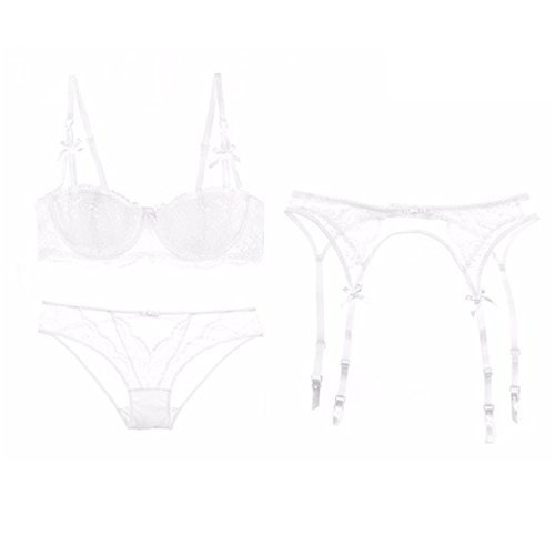Keshia Dwete perspectivity of bras and panties women underwear bra set white 85C