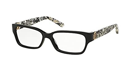 7ebfb0e95a45 Tory Burch TY2025 TY2025 Eyeglass Frames 3155-53 - Black/black White Marble  TY2025-3155-53 at Amazon Men's Clothing store: