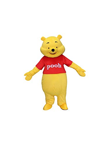 Winnie The Pooh Bear Adult Mascot Costume Cosplay Fancy Dress (Winnie The Pooh Outfit For Adults)