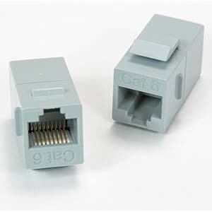 InstallerParts Cat.6 Inline Coupler w/Keystone Latch Gray (Profile Motherboard Gateway 4)
