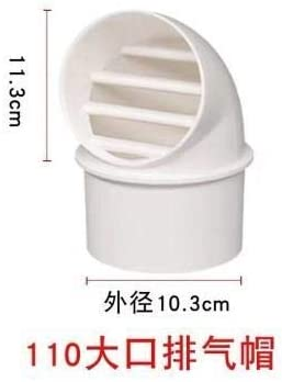 Air Vent Grille Wall Ventilation Outlet Exhaust Grille Round Home Ducting Cover