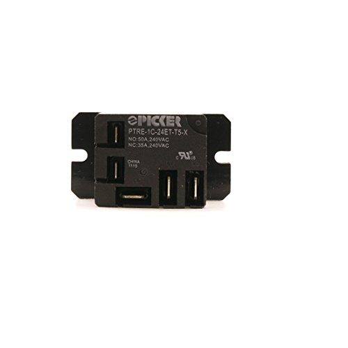 PTRE-1C-24ET-T5-X   SPST 24 VDC Coil 50 Amp 240 VAC UL Rated, Sealed T90 PCB Relay with QC Pins and Mounting Brackets