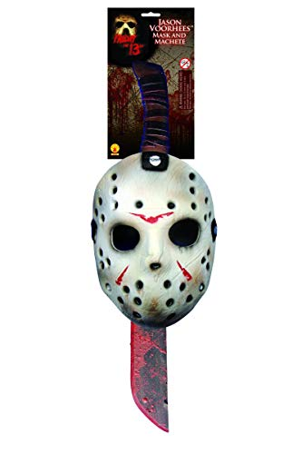 Rubie's Men's Friday The 13th: Jason Mask and Machete Set, As Shown, One ()