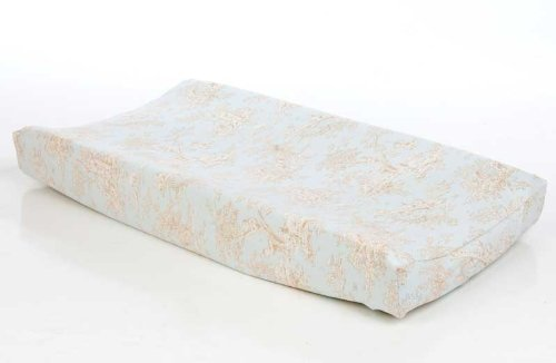 Glenna Jean Chocolate (Glenna Jean Central Park Changing Pad Cover, Blue/Chocolate/Tan/White)